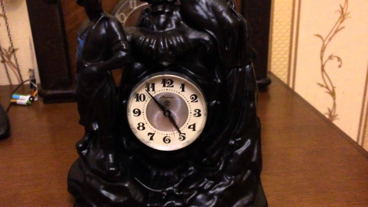 Каминные часы с боем Junghans 19 век - YouTube