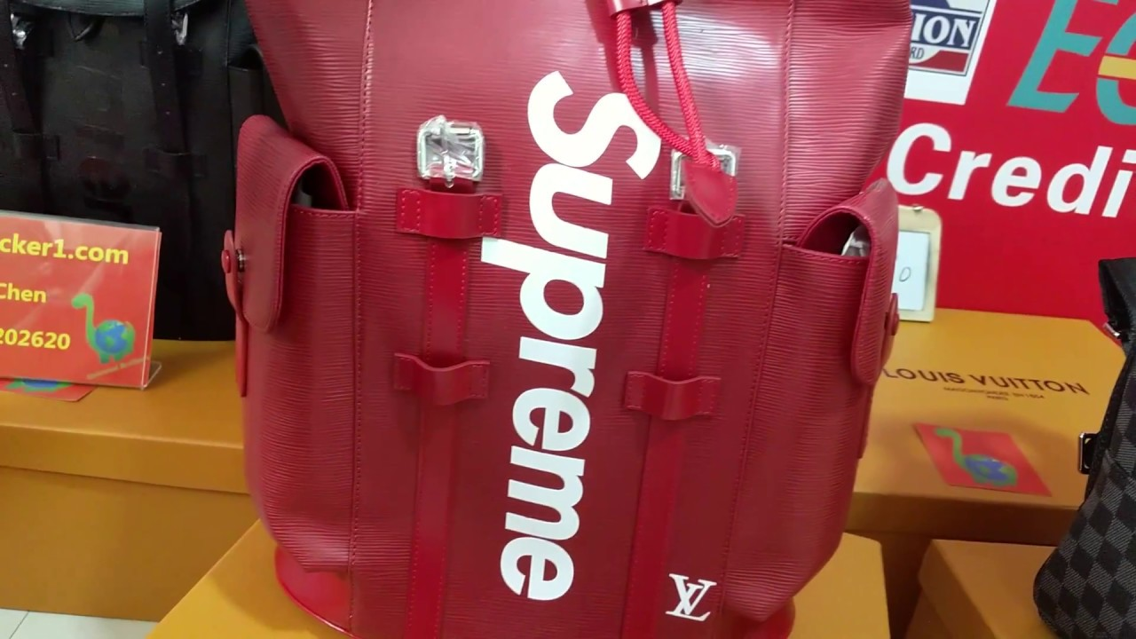 d3d3431ff312 2018 Newest Louis Vuitton X Supreme Bags Real Shot Review - YouTube