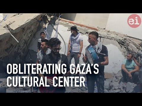Obliterating Gaza's cultural center
