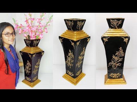 Big Size Flower vase make at home // Flower vase for home decoration