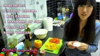 Oishii! with Miri-chan: Marinated salad with paprika and tuna