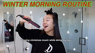 WINTER MORNING ROUTINE! Vlogmas Day 2 | Nicole Laeno