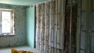 гипсокартон, обшивка стен, очередность монтажа. Drywall installation.(, 2014-06-05T21:08:35.000Z)