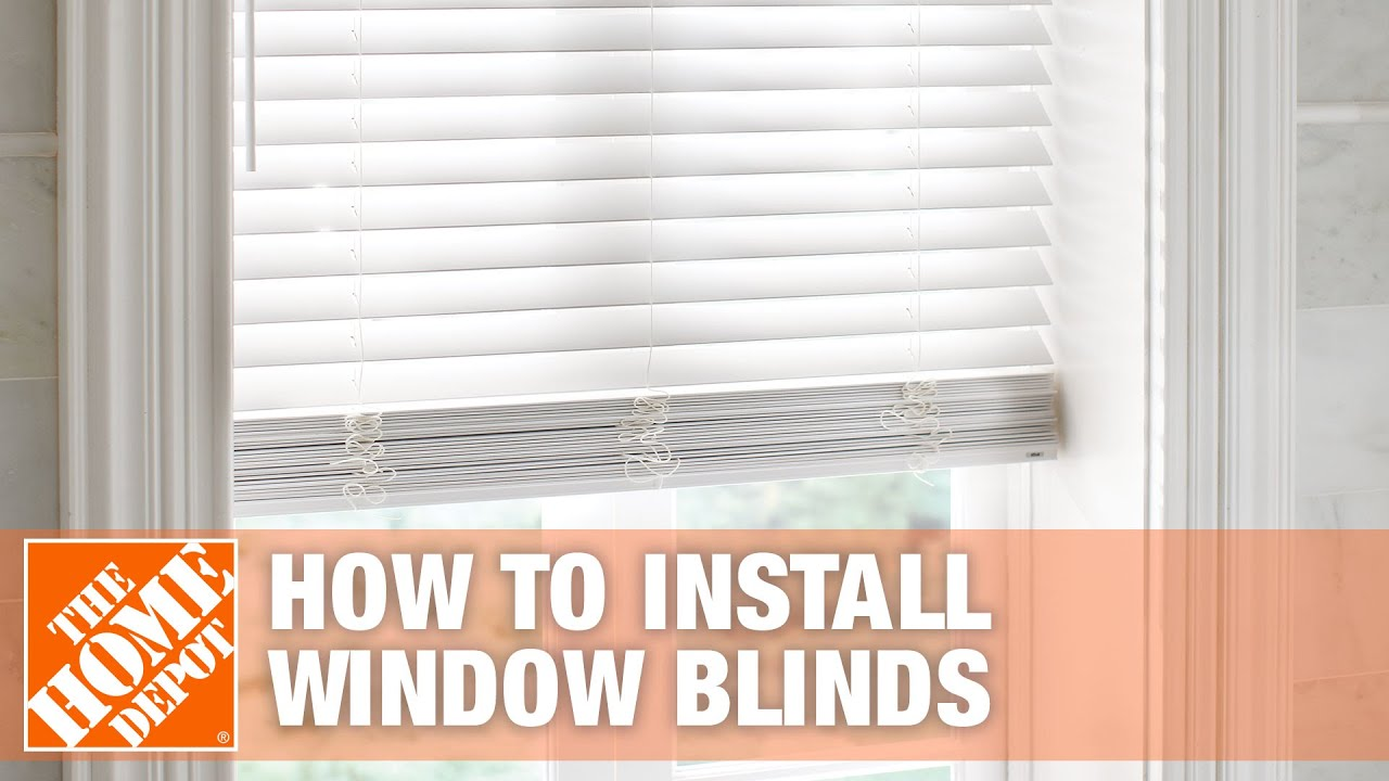 How To Install Inside Mount Horizontal Window Blinds The Home Depot You