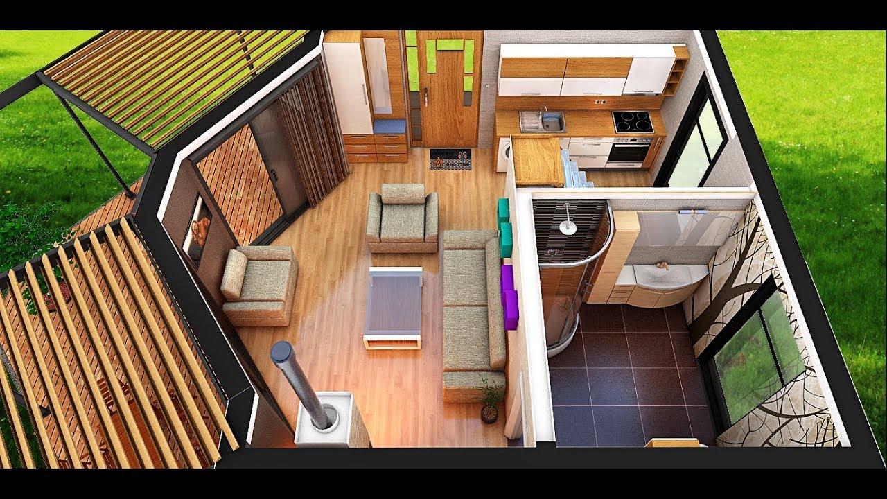 Tiny House Interior 50m2 Full Accommodation Youtube