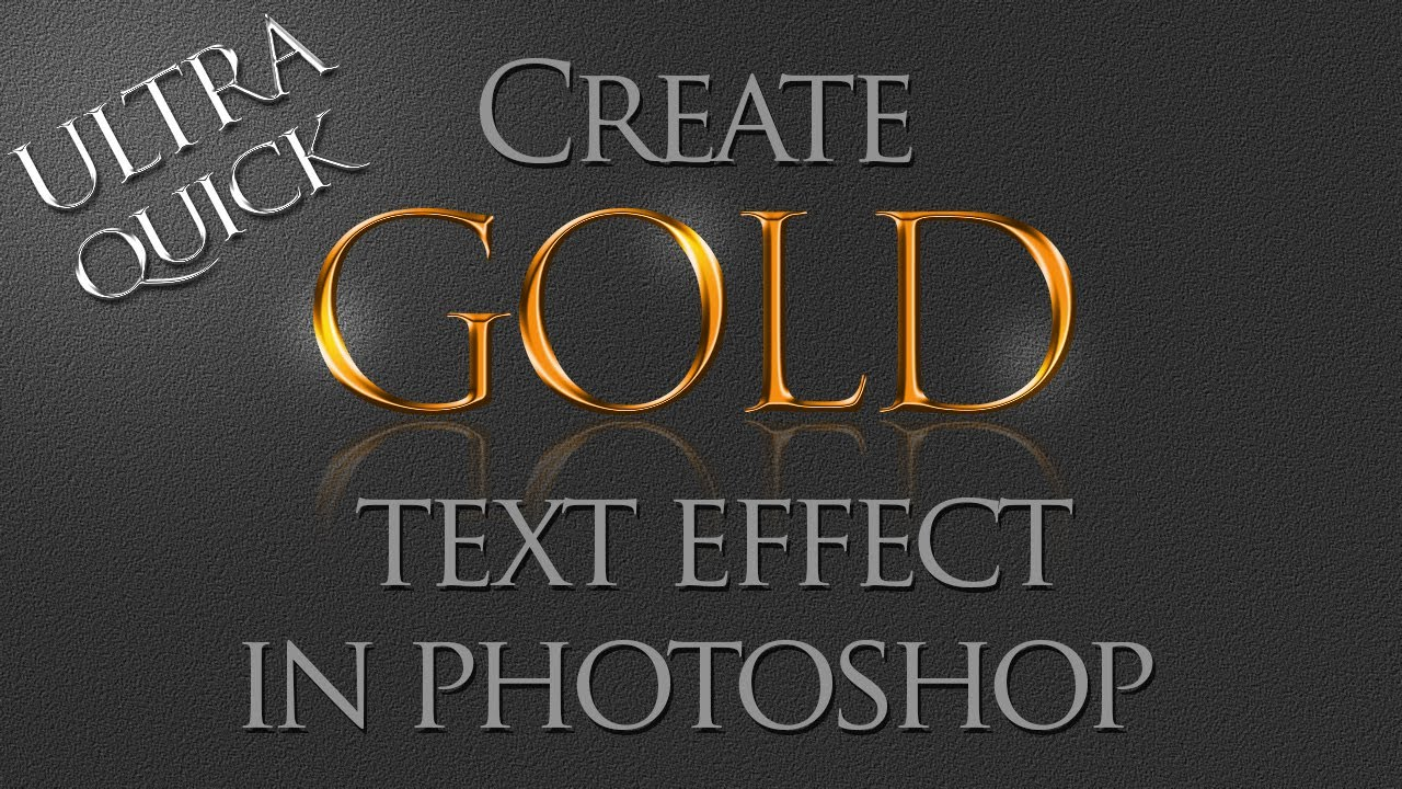 shop Tutorial How to create Gold text effect using layer