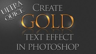 Photoshop Tutorial: How to create Gold text effect using layer styles.