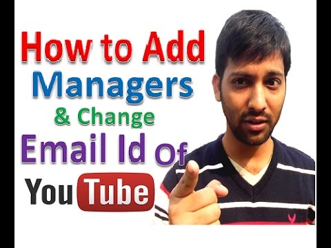 how to change youtube channels email