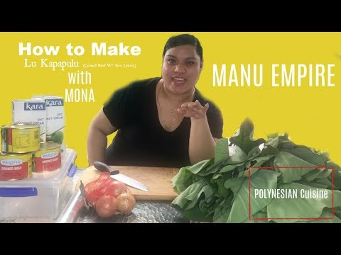HOW TO MAKE: LU KAPAPULU (Corned Beef & Taro Leaves)   With Mona   Manu Empire