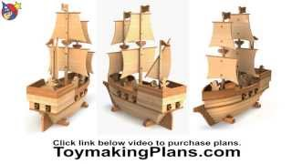 Wood Toy Plan - Pirate Ship Madagascar
