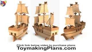 Wood Toy Plan - Pirate Ship Madagascar