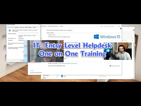 IT: Entry Level Helpdesk One on One Training With Eddie