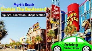 TOUR Myrtle Beach Sc Downtown Driving Ocean Blvd VIDEO