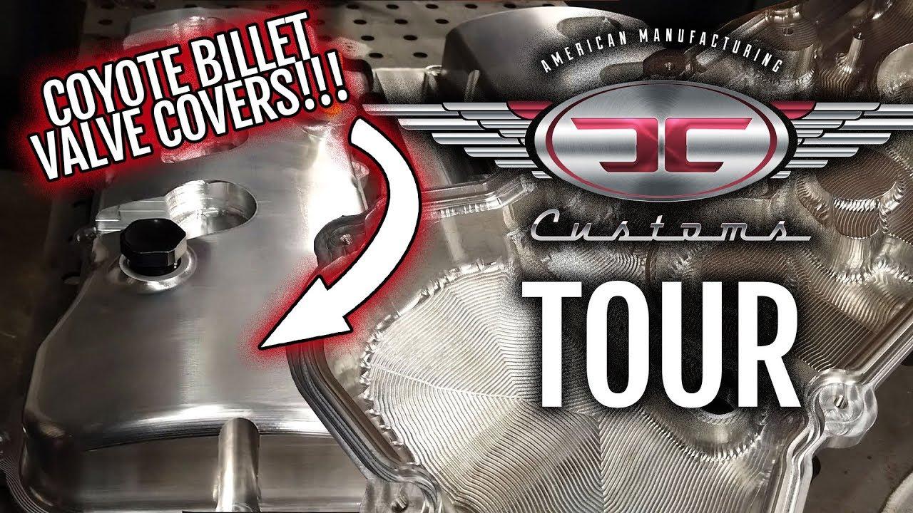 JC Customs CNC - Tour - Coyote Billet Valve Covers!!!