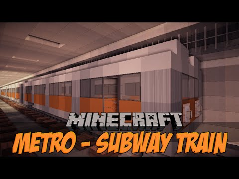 Minecraft Vehicle Tutorial Series - How To Build A Subway ...
