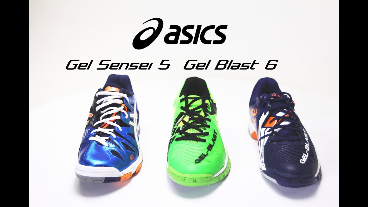 Anunciante Por lo tanto Acostado  New ASICS Gel Sensei 5 and Gel Blast 6 Shoes - YouTube