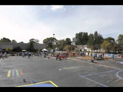 Detroit Innovation Academy Playground Build Time Lapse