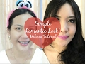 SIMPLE ROMANTIC LOOK MAKEUP TUTORIAL 2017 / INDONESIA