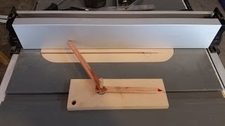 home made poor man Dial Indicator for your table saw fence, very precise