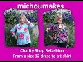 Charity Shop Refashion - size 12 Dress to a size 16 top