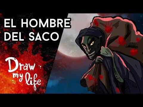 El ORIGEN REAL del HOMBRE DEL SACO - Draw My Life en Español