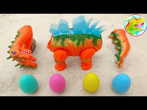 Dinosaur Walking and Laying Eggs Toys Learn Colors & Numbers for Children #4 - G339P
