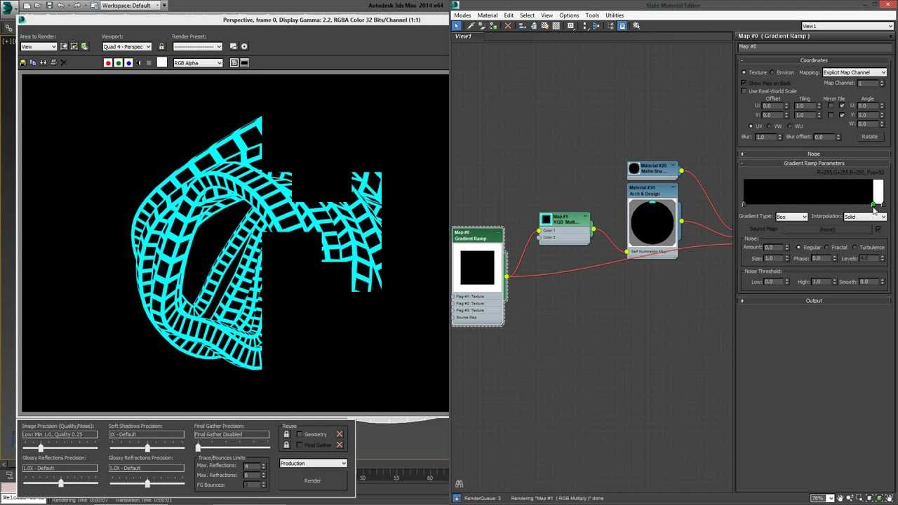 Line Drawing Render 3ds Max : Quick tip hidden line rendering in mental ray ds max