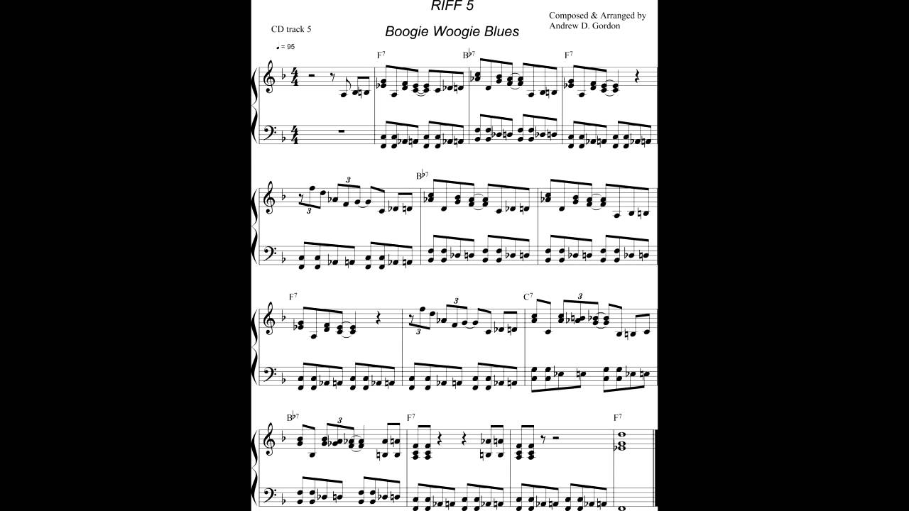 Boogie Woogie Blues Piano Lesson from www digitalsheetmusicdownloads com