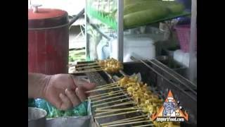 Thai Street Vendor Pork Satay
