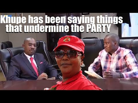 Khupe has undermined the PARTY - CHAMISA