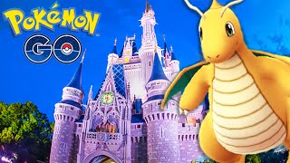 OMG!!! DISNEY MAGIC KINGDOM CINDERELLA CASTLE GYM BATTLE | POKEMON GO