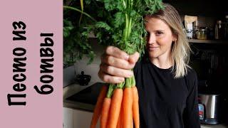 Зеленый соус песто Морковная ботва