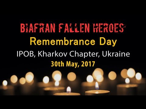 IPOB Kharkov Chapter, Ukraine, 30th May 2017 Biafran Heroes Remembrance Day