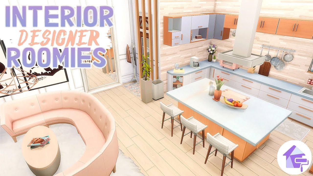 INTERIOR DESIGNER BESTIES APARTMENT ~ Sims 4 Dream Home Decorator Renovation Speed Build (No CC)