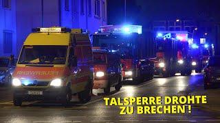 [Steinbachtalsperre drohte zu brechen] - Einsatzfahrt Wasserförderungszug der Feuerwehr Düsseldorf -