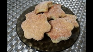 Домашнее сахарное песочное печенье на сметане - быстро и вкусно!