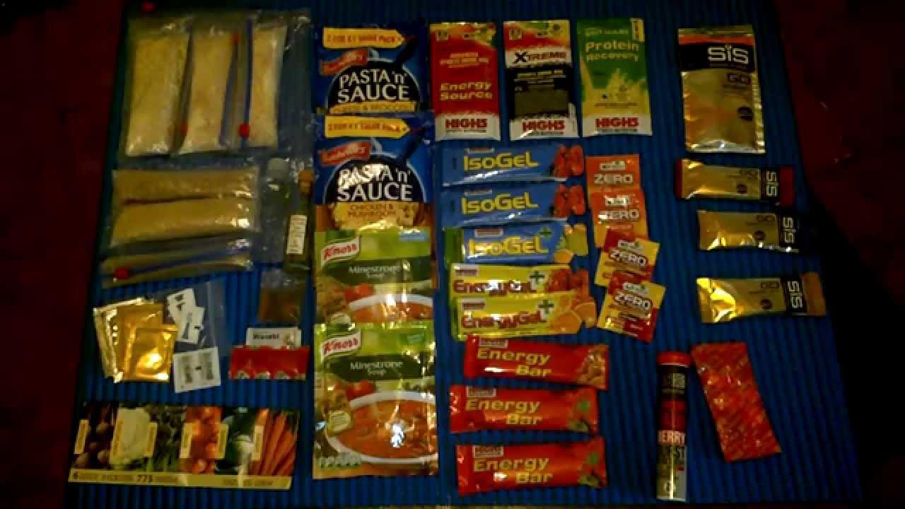 My Bug Out Bag Food 3 Dayore