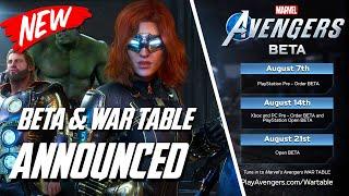 Marvel's Avengers | Beta & Wartable Dates Revealed !!! Open Beta & More !!!!