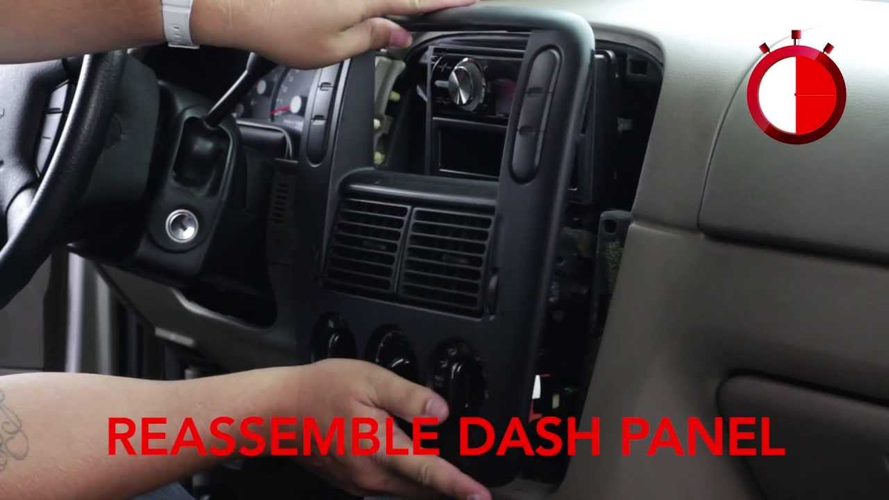 Basic installation of an aftermarket stereo into a Ford