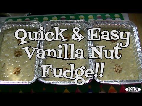 Quick & Easy Vanilla Nut Fudge!! Noreen's Kitchen - YouTube