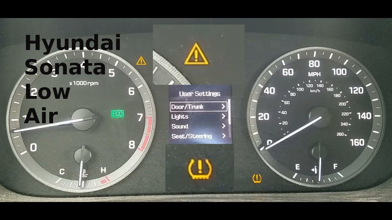 Hyundai Elantra Dashboard Symbol >> 2015 Hyundai Sonata Exclamation Point Warning Light - YouTube