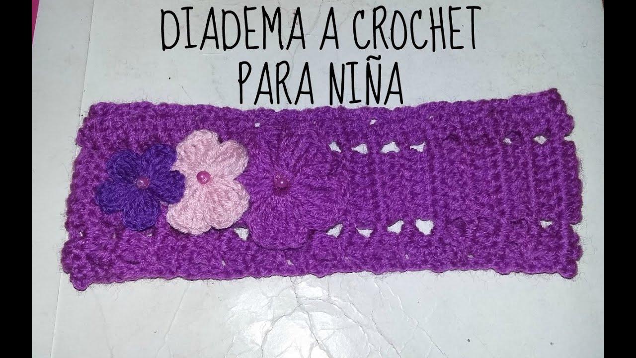 Diadema a crochet para ni a paso a paso tutorial f cil for Hacer diademas nina