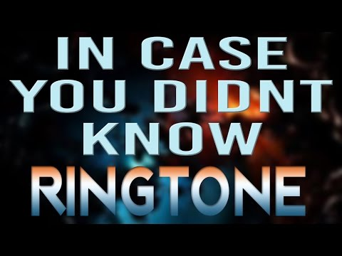 Latest iPhone Ringtone - In Case You Didnt Know - Brett Young