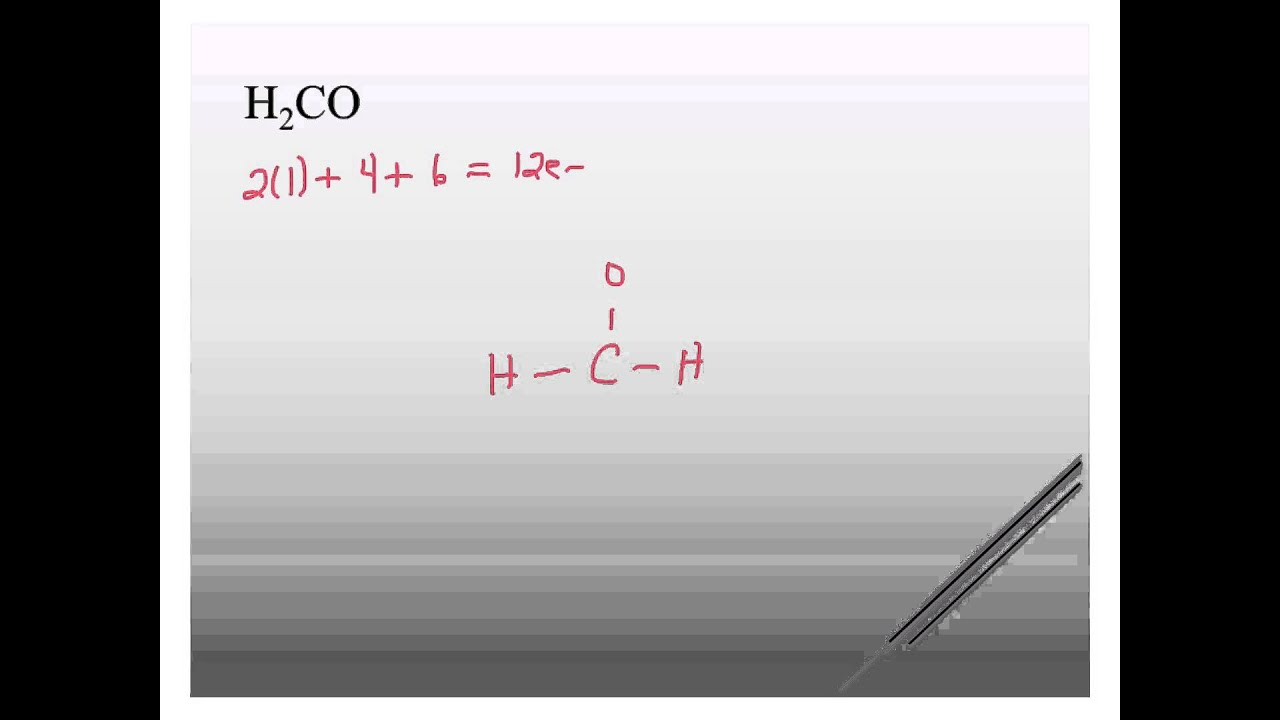 hight resolution of h2co lewis structure