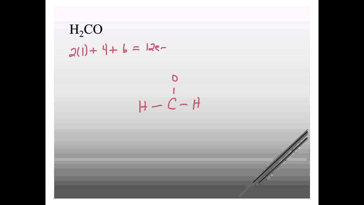 h2co lewis structure [ 1280 x 720 Pixel ]