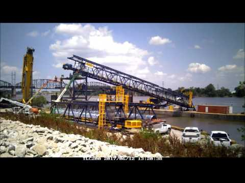 Barge Loadout Conveyors at Lange-Stegmann - Marco Conveyors - Construction Time Lapse