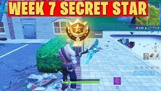 SECRET BATTLE STAR WEEK 5 SEASON 7 LOCATION! - Fortnite Battle Royale (Road Trip Challenges)