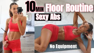 10 MIN Sexy Abs Floor Routine // No Equipment + At Home Workout // Sami Clarke #FitAtHome