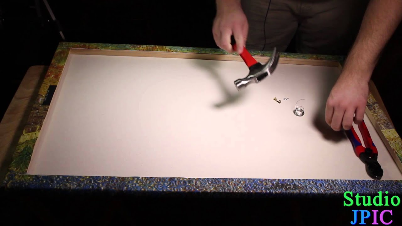 How to mount a canvas on a wall youtube jeuxipadfo Images