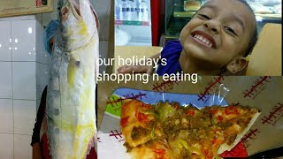 Our holiday ll shopping and eating ll our lovely day out
